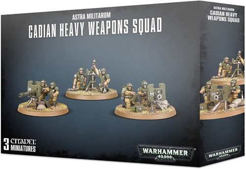 Astra Militarum Cadian Heavy Weapon Squad - фото 101469