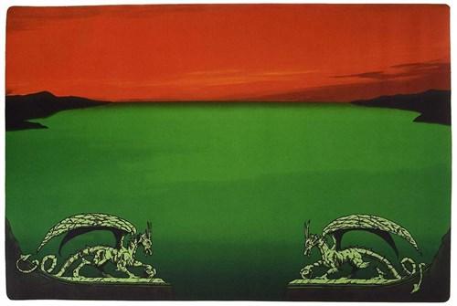 Игровое поле Dragon Shield Green - Red Zone - фото 102835