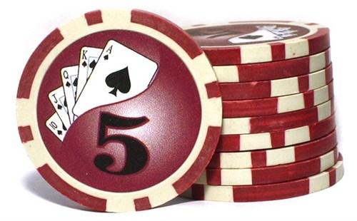 Покерные фишки Royal Flush номиналом 5 (25 фишек) 9,5 г. - фото 109415