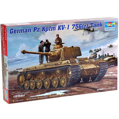 German Pz.Kpfm Kv-1 756 (r)  (1:35) - фото 113381