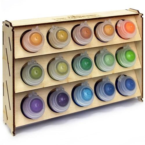 Подставка для красок из фанеры 15 баночек Mk-2 (Citadel) - фото 120266