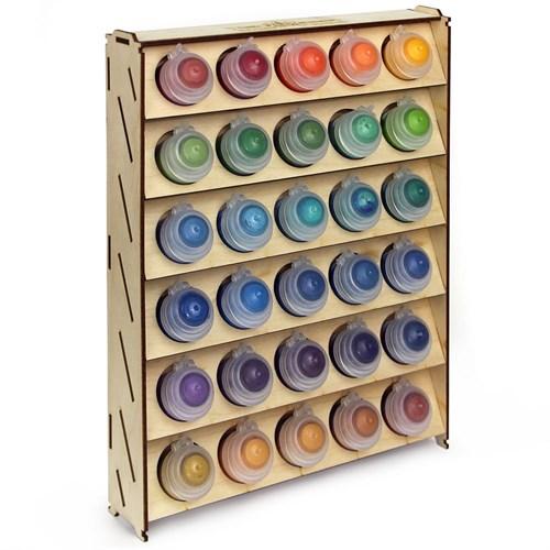 Подставка для красок из фанеры 30 баночек Mk-2 (Citadel) - фото 120270