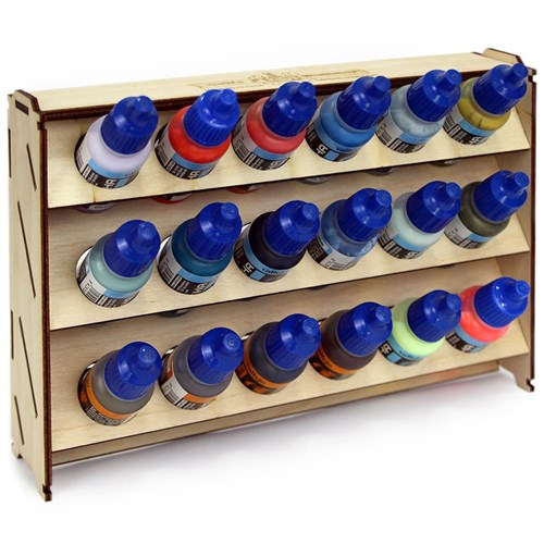 Подставка для красок из фанеры 18 баночек Mk-2 (Vallejo) - фото 120282