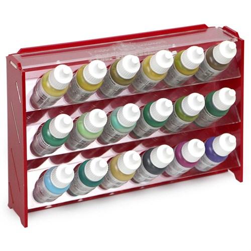 Подставка пластиковая красная для красок 18 баночек Mk-1 (Vallejo) - фото 120341