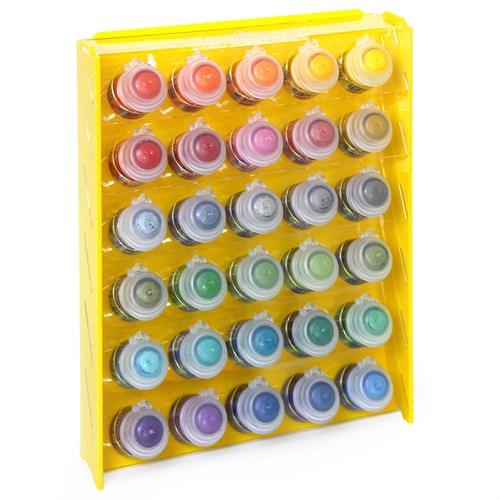 Подставка пластиковая жёлтая для красок 30 баночек Mk-1 (Citadel) - фото 120362