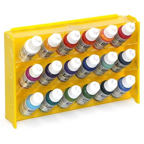 Подставка пластиковая жёлтая для красок 18 баночек Mk-1 (Vallejo) - фото 120386