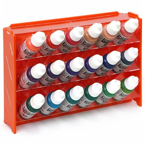 Подставка пластиковая оранжевая для красок 18 баночек Mk-1 (Vallejo) - фото 120917