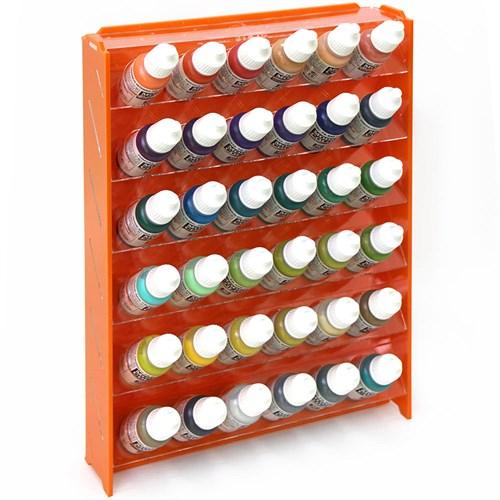 Подставка пластиковая оранжевая для красок 36 баночек Mk-1 (Vallejo) - фото 120922