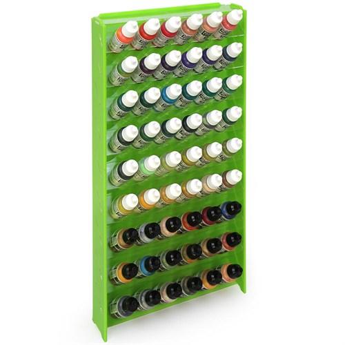 Подставка пластиковая зелёная для красок 54 баночек Mk-1 (Vallejo) - фото 120940