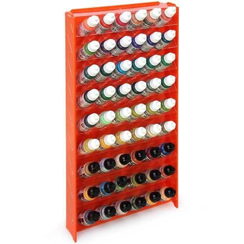 Подставка пластиковая оранжевая для красок 54 баночек Mk-1 (Vallejo) - фото 120952