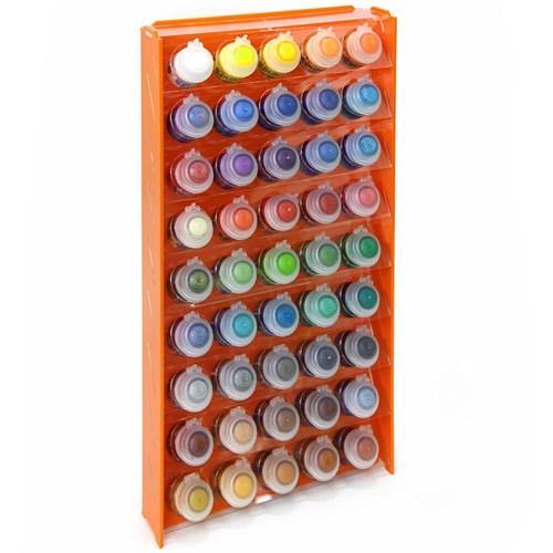 Подставка пластиковая оранжевая для красок 45 баночек Mk-1 (Citadel) - фото 120994