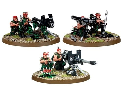 Imperial Guard Catachan Heavy Weapon Squad - фото 12877