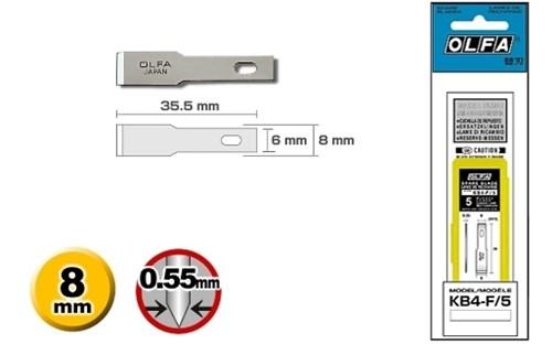 Лезвие Olfa лопаточное для ножей АК-4 5шт. - фото 14319