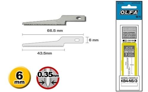 Лезвие Olfa пильные для ножей АК-4 3шт. - фото 14321
