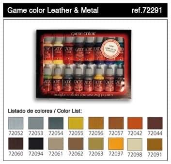 НаборМодельныхКрасокVallejo7229116шт:Leather&Metal - фото 15352