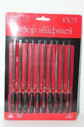Набор надфилей с ручками, 10 шт., блистер + чехол - фото 17301