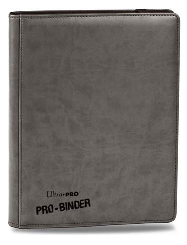 """Альбом """"Ultra-Pro"""" """"Pro-Binder"""" (премиум с листами по 3х3 кармашка, искусственная кожа): серый - фото 17662"""