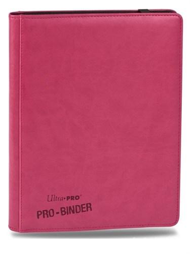 """Альбом """"Ultra-Pro"""" """"Pro-Binder"""" (премиум с листами по 3х3 кармашка, искусственная кожа): ярко-розовый - фото 17663"""