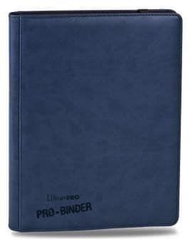 """Альбом """"Ultra-Pro"""" """"Pro-Binder"""" (премиум с листами по 3х3 кармашка, искусственная кожа): синий - фото 17664"""