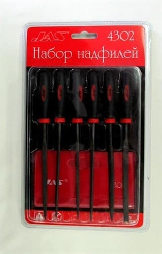 Набор надфилей с ручками,  6 шт., блистер + чехол - фото 17674