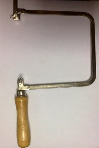 Лобзик, 140 мм, глубина 150 мм, деревянная ручка. - фото 17677
