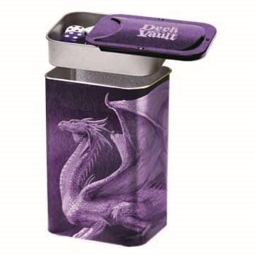 """Коробочка """"Ultra-Pro"""" (стальная): рисунок """"Фиолетовый дракон"""" - фото 18719"""