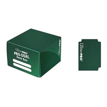 """Коробочка """"Ultra-Pro"""" Pro-Dual (пластиковая, на 180 карт в протекторах): Зеленая - фото 18726"""