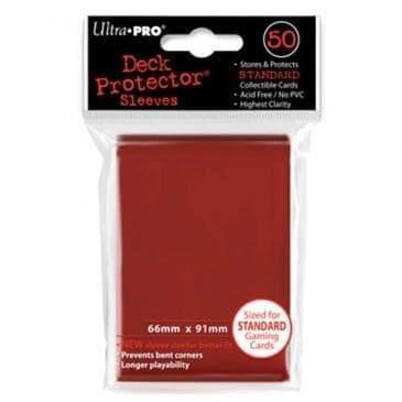 """Протекторы """"Ultra-Pro"""" (разноцветные, 50 шт., 66мм*91мм): красные - фото 18742"""