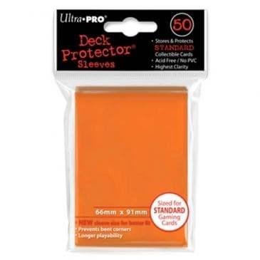 """Протекторы """"Ultra-Pro"""" (разноцветные, 50 шт., 66мм*91мм): Оранжевые - фото 18744"""