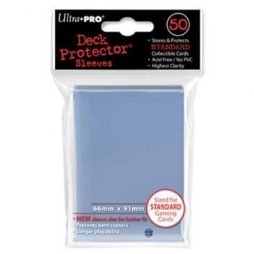 """Протекторы """"Ultra-Pro"""" (разноцветные, 50 шт., 66мм*91мм): Прозрачные - фото 18745"""