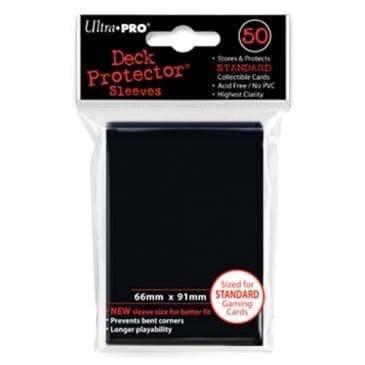 """Протекторы """"Ultra-Pro"""" (разноцветные, 50 шт., 66мм*91мм): черные - фото 18748"""