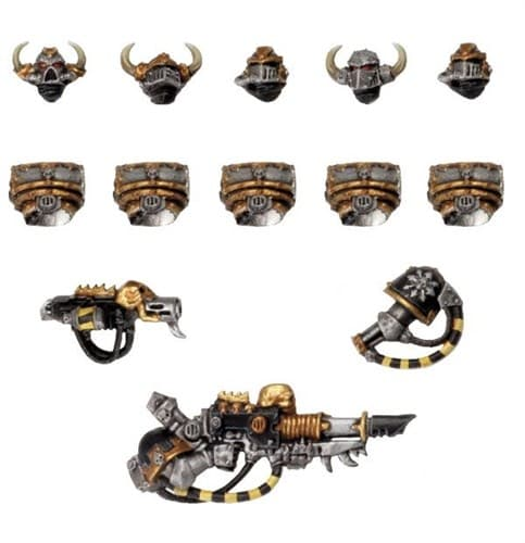 Chaos Space Marines Iron Warriors Upgrade Pack - фото 19139