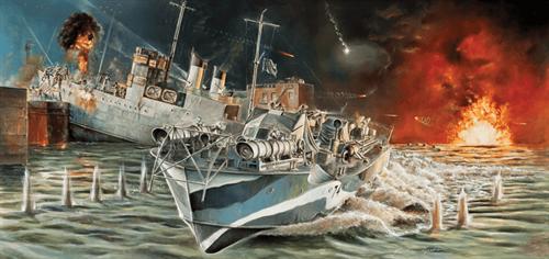 Корабль Vosper MTB 74 St. Nazaire Raid (1:35) - фото 20593