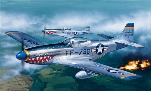 Самолет  F-51D MUSTANG (1:72) - фото 20878