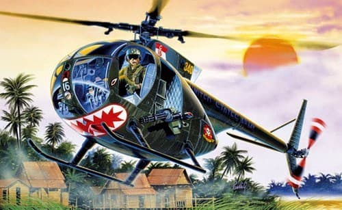 Вертолет  OH-6 A CAYUSE (1:72) - фото 20884