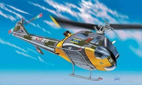Вертолет  AB-204 B/ UH-1F (1:72) - фото 20887