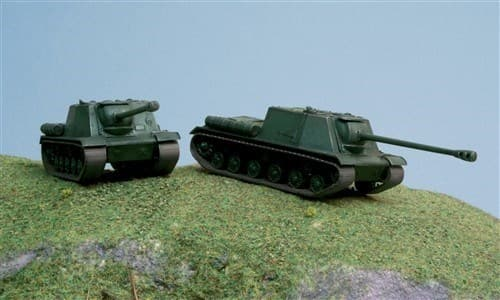САУ  ISU-122 (2 FAST ASSEMBLY MODELS) (1:72) - фото 21203