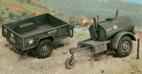 Автомобиль  250 Gal.S Tank Trailer - M101 Cargo Trailer (1:35) - фото 21219