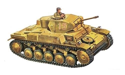 Танк  Pz.Kpfw. II Ausf. F (1:72) - фото 21248