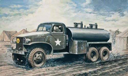 Автомобиль  2 1/2 Ton, 6x6 Water Tank Truck (1:35) - фото 21308