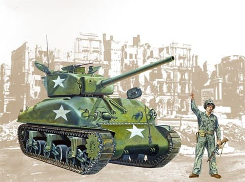 Танк  M4 A1 SHERMAN (1:35) - фото 21314