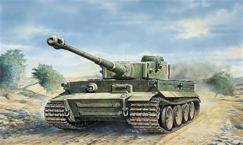 Танк  Tiger I   Ausf. E/H1 (1:35) - фото 21402