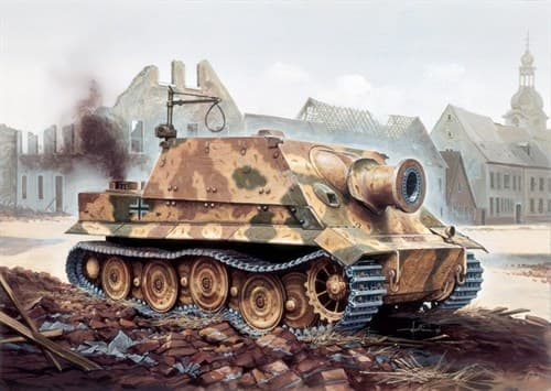 САУ  38cm RW61 auf STURMMORSER TIGER (1:35) - фото 21464