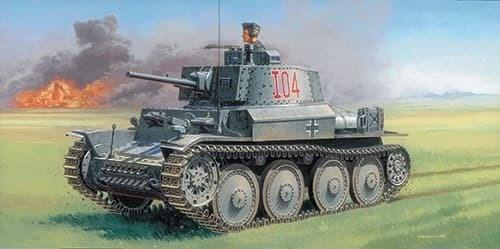 Танк  Pz.Kpfw 38(t) Ausf. F (1:35) - фото 21489