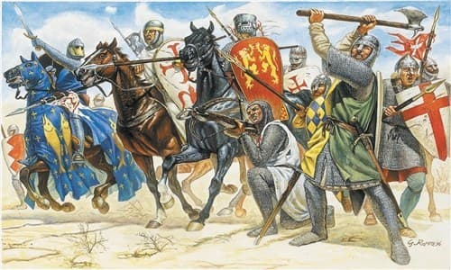 Солдаты  CRUSADERS (11TH CENTURY) (1:72) - фото 21886