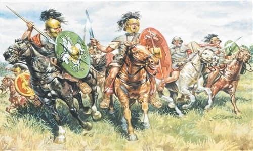 Солдаты  ROMAN CAVALRY (I-II CENTURY B.C.) (1:72) - фото 21946