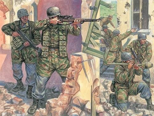 Солдаты  WWII- GERMAN PARATROOPERS (1:72) - фото 21973
