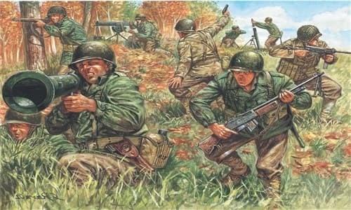 Солдаты  WWII- AMERICAN INFANTRY (1:72) - фото 21978