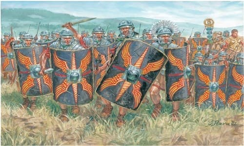 Солдаты  ROMAN INFANTRY (CESARIS WARS) (1:72) - фото 21981