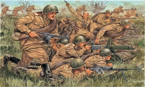 Солдаты  WWII - RUSSIAN INFANTRY (1:72) - фото 21989